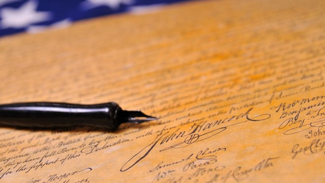 """The Founding Fathers were brave enough to sign their names to a cause they believed in. """"Dark-money"""" campaign donors have no such courage."""