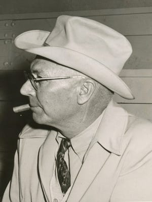 Otto Jones, pictured here in 1954, was manager of the Renderbrook-Spade Ranch from 1912 to 1966.
