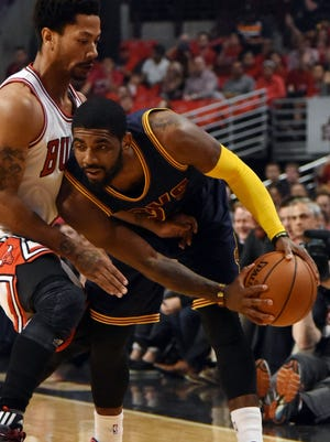 Kyrie Irving shot 3-of-13 from the field while playing on a strained right foot.