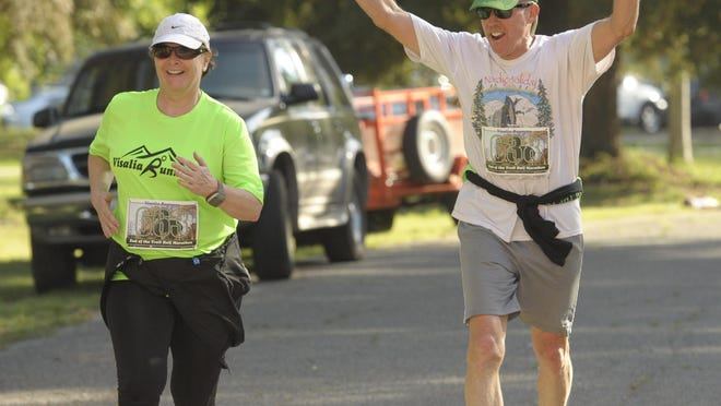 About 370 runners and walkers participated in the End of the Trail Half Marathon and 10K race at Mooney Grove Park in 2014.