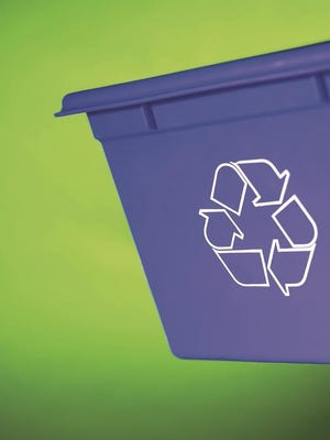 Use those recycling bins this year.