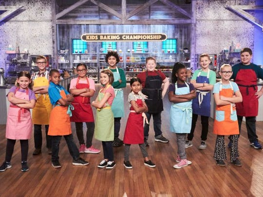 "Thousand Oaks resident Cole Frederickson, third from right, is one of 12 contestants featured in the third season of ""Kids Bakings Championship"" on the Food Network. The season premiered Jan. 2 and will air Mondays through March 6."