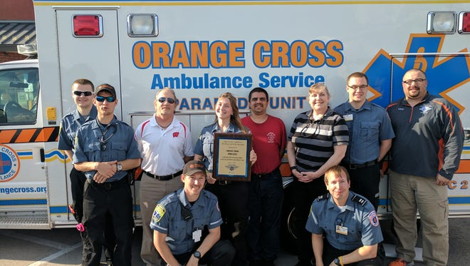Orange Cross Ambulance was awarded the Scene Call of the Year award on June 27 from theFond du Lac-based Flight For Life, its fourth such award in the past six years.