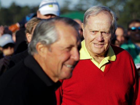 Jack Nicklaus, right, is planning a special appearance in Metro Detroit in June.