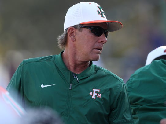 FAMU Head Coach Jamey Shouppe watches as his team takes