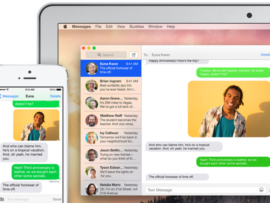 Receive text messages and iMessages directly on your