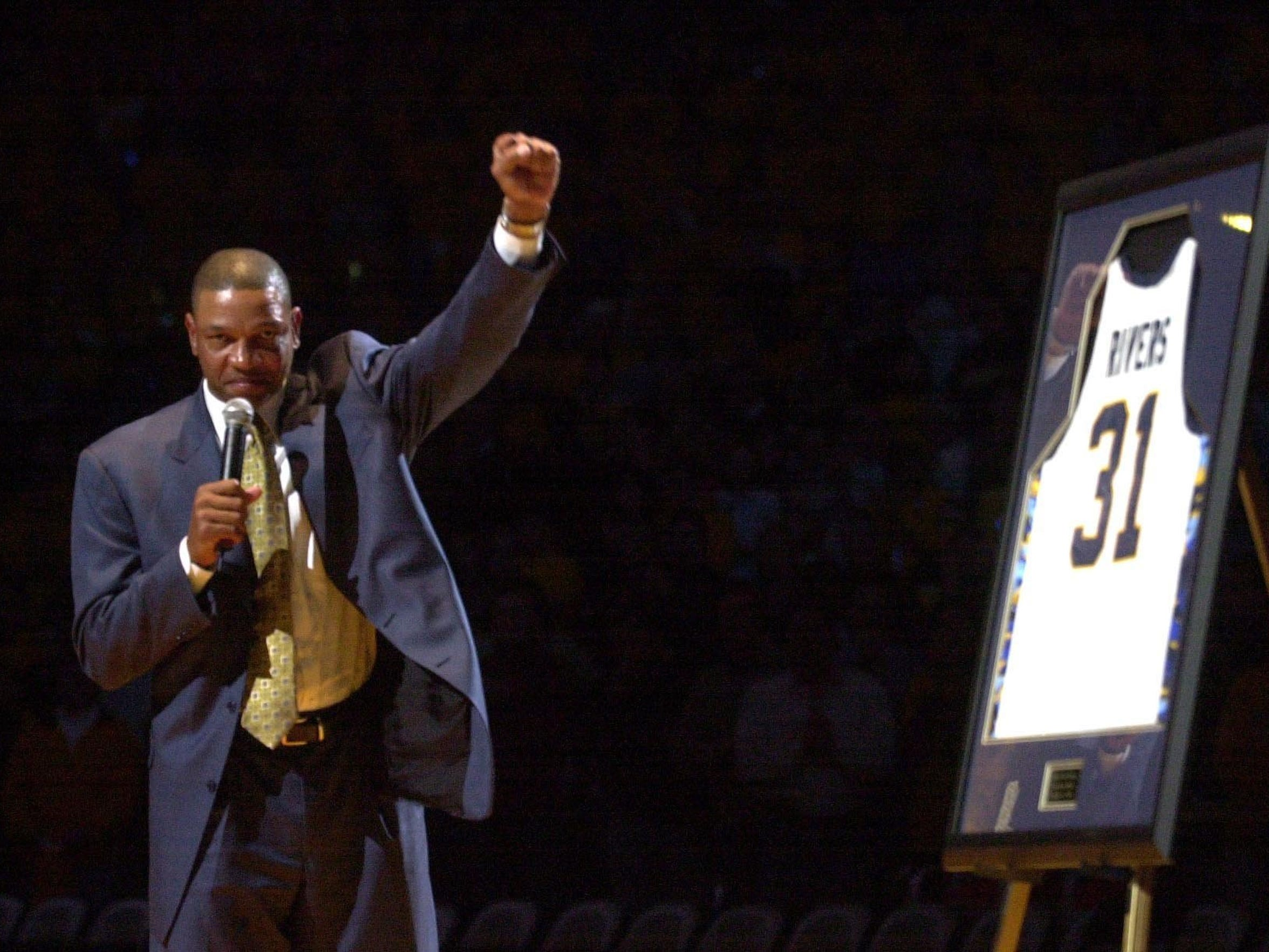 "Glenn ""Doc"" Rivers had his number retired by Marquette"