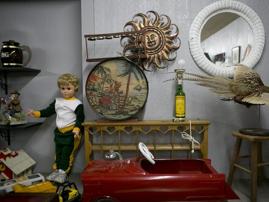 Items up for auction at Barrett's Auction Center in