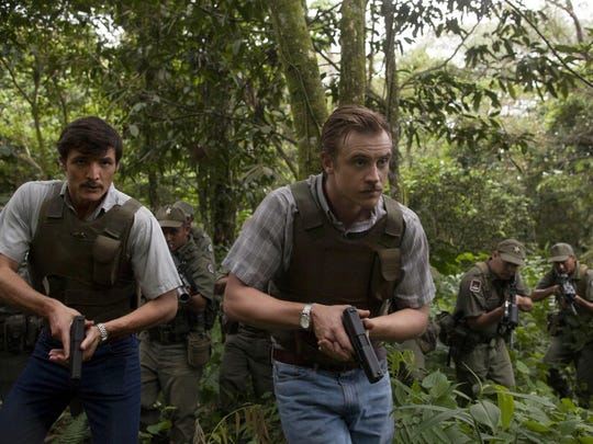 "Pedro Pascal as Javier Peña and Boyd Holbrook as Steve Murphy star in the Netflix Original Series ""Narcos."""