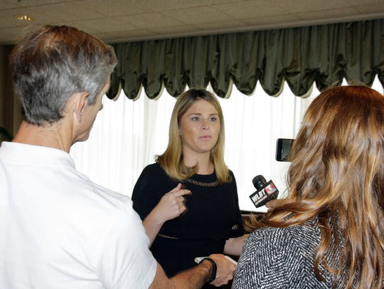 Jenna Bush Hager speaks with media about her visit