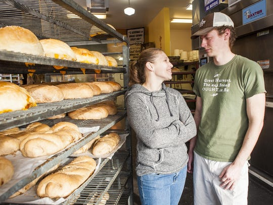 Laura and Ryan Connell, Great Harvest Bread's new owners,