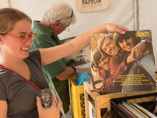 Shopping for vinyl at the Dogfish Head Analog-A-Go-Go