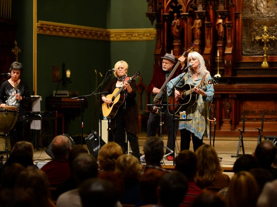 """Emmylou Harris performs at the 2015 """"Nashville Unlimited Christmas"""" show at Christ Church Cathedral."""