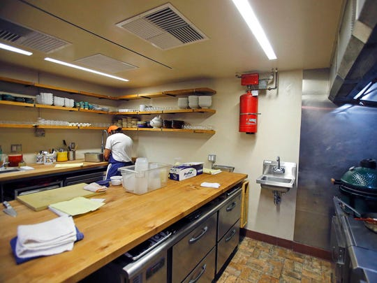 The kitchen area of Chef Kevin Binkley's new restaurant