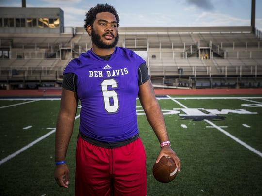 Ben Davis defensive lineman LeShaun Minor had 6 1/2