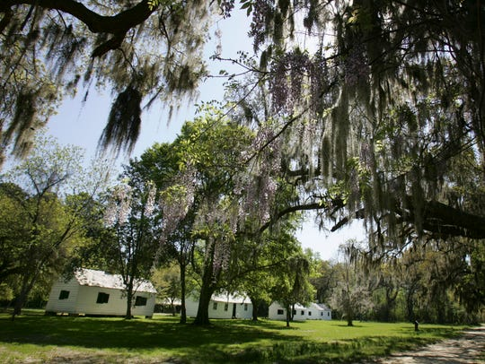 Restored plantation slave cabins in Charleston, S.C.