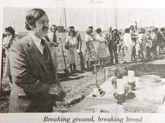 The Rev. Richard Henderson in an image from a Novi News article about the groundbreaking on 10 Mile for what is now Faith Community Presbyterian Church.