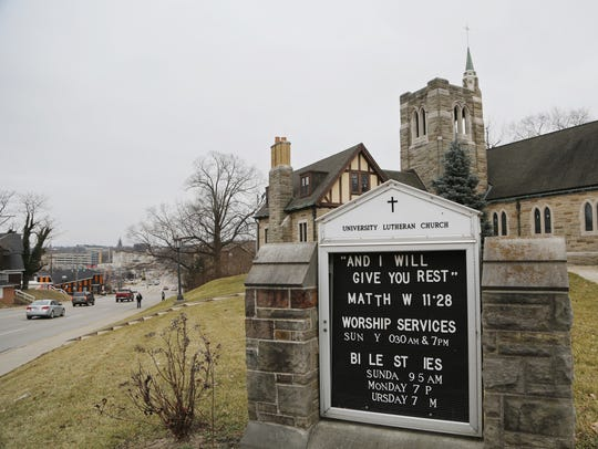 University Lutheran Church, 100 S. Chauncey Ave., is