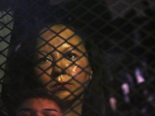 Guadalupe Garcia de Rayos locked in a van that was