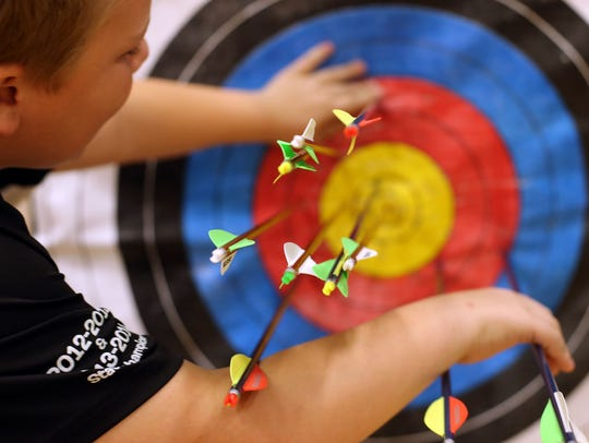 Six of Rutherford County's nine middle school archery