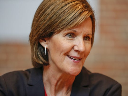 Indiana Fever President Kelly Krauskopf speaks with