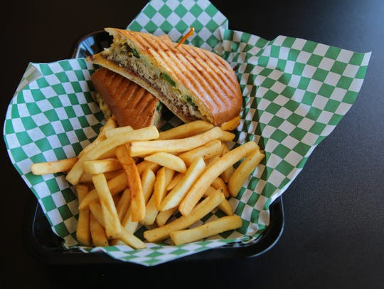 The Flame Thrower panini is one of the menu items that