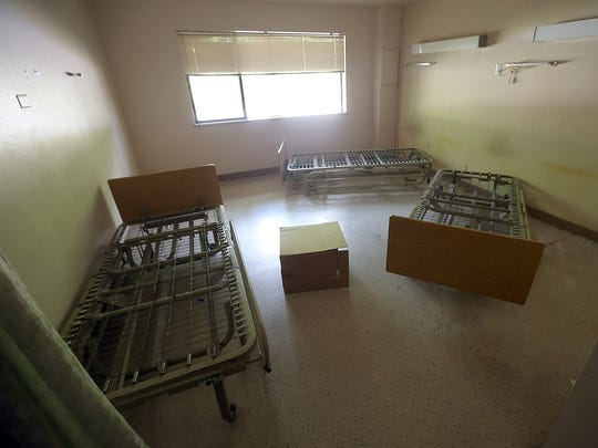 Empty bed frames in one of the rooms of what used to be the Kitsap Recovery Center which is transiting into the Kitsap County Crisis Triage Center in East Bremerton on Thursday, July 20, 2017.