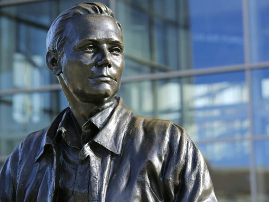 Statue of Neil Armstrong, first man to walk on the