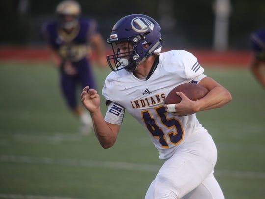 Indianola junior running back Dylan Hildreth finds