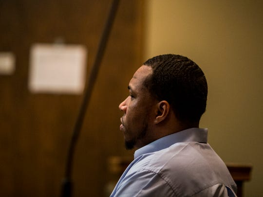 November 15, 2017 - Detrick Turner appears in criminal court in front of Judge Lee Coffee during his trial. Turner was convicted of killing his wife, Sharice Turner.