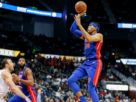 Dec 14, 2017; Atlanta, GA, USA; Detroit Pistons forward