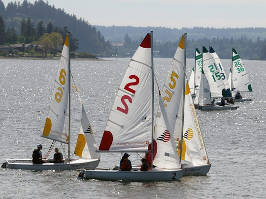 In early May, the NWISA High School Sailing Team Race Championship was held at the Port of Silverdale's waterfront. The port is considering options to make its waterfront more inviting to the public.