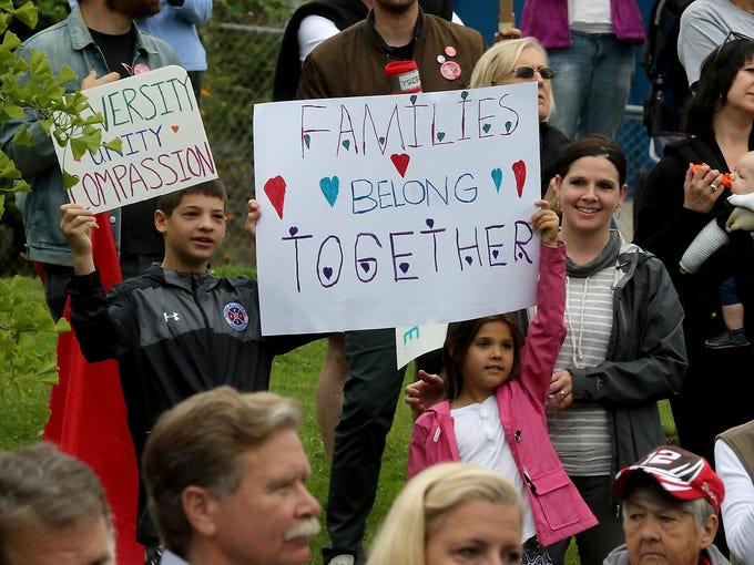 'Families Belong Together': Kitsap rallies against migrant family  separations