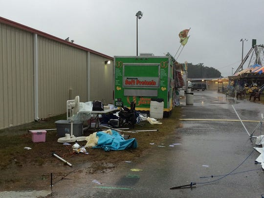 The Emerald Coast Alliance for Breastfeeding Support's tent for nursing moms at the Pensacola Interstate Fair was destroyed by weather in 2015. A similar fate awaited the group at the 2017 fair.