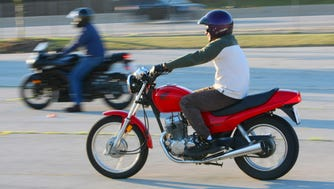 Motorcyclists often take beginning rider courses on smaller bikes, like these, before moving up to something bigger.