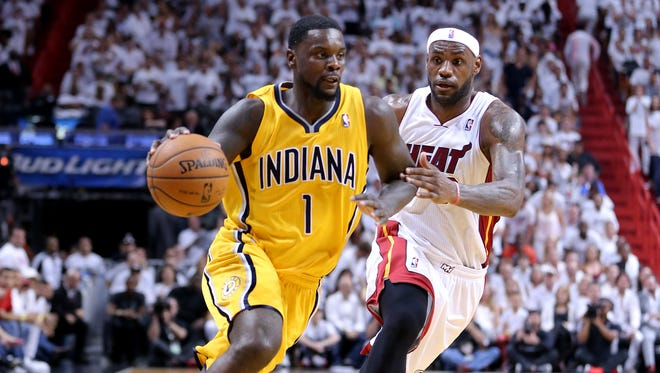 A Pacer no more, Lance Stephenson was introduced as a Charlotte Hornet on Friday.
