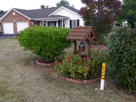 A home sits on Mountain View Drive in the Stuarts Draft Retirement Community just outside the Columbia Gas line right of way. This property sits near a  sub-station that supplies natural gas to the McKee Corporation on Patton Farm Road.