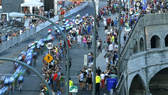 The Rochester Twilight Criterium, a bicycle race through the streets of downtown Rochester, runs from 1:45 to 11 p.m. Saturday, Aug. 13.