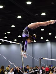 Danielle Sievers during the 2018 National Gymnastics