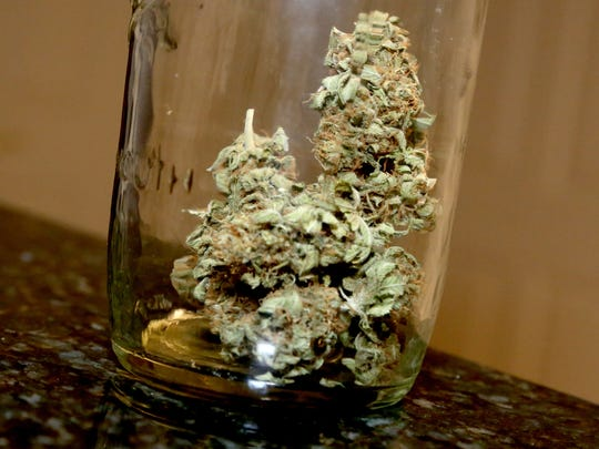 A container with buds that Donny Barnes is allowed