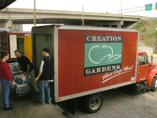 Title: Creation Gardens truck