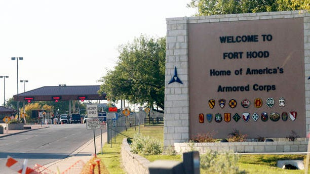 This Nov. 5, 2009 file photo shows the entrance to Fort Hood Army Base in Fort Hood, Texas, near Killeen, Texas.