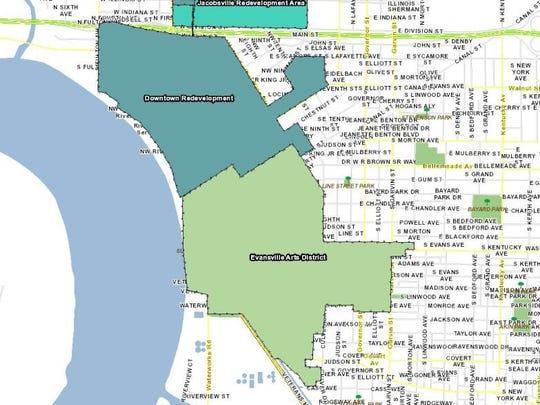 The Haynie's Corner Arts District Tax Increment Financing District.