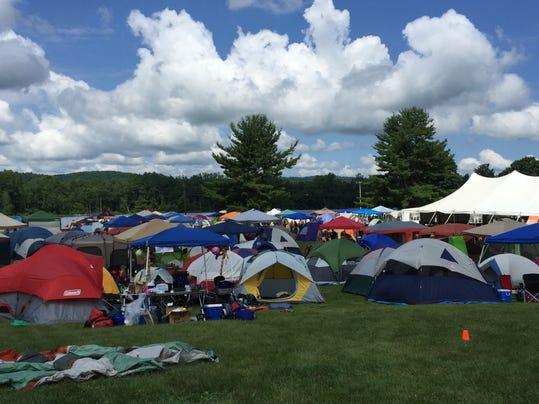 Tent Village at Northfield Mountain