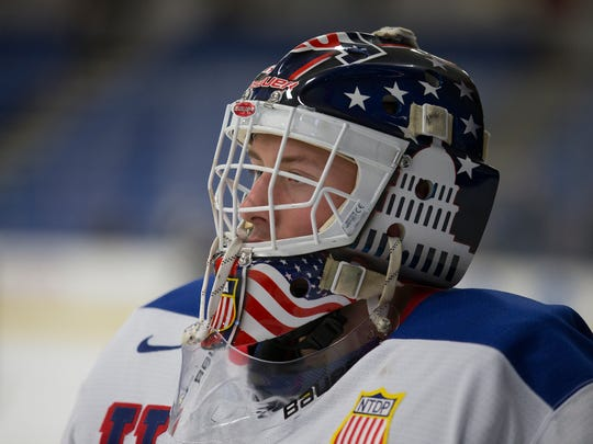 Dylan St. Cyr and the rest of the U.S. NTDP Under-18 team begins play Thursday at the IIHF U18 World Championship in Slovakia.