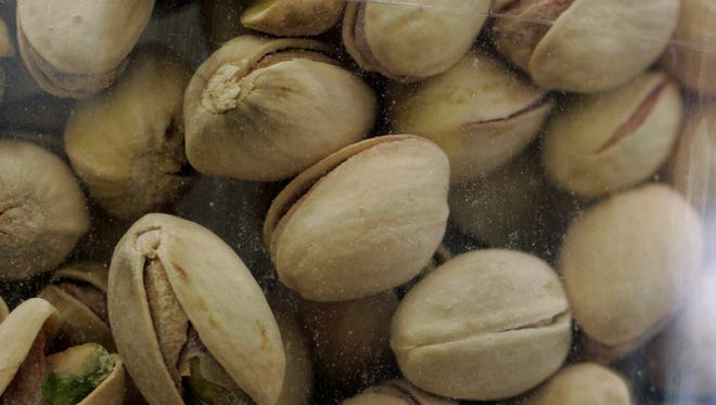In this March 31, 2009 file photo, pistachios at a grocery store in Palo Alto, Calif., are shown.
