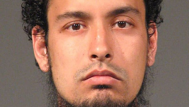 This photo released by the San Jose Police Department via the San Jose Mercury News shows Matthew Aaron Llaneza, 28, after a 2011 arrest for weapons offenses. 1