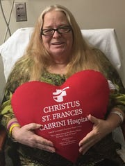Rita Teets, 63, of Leesville describes her near-death experience from her room at Christus St. Frances Cabrini Hospital in Alexandria.