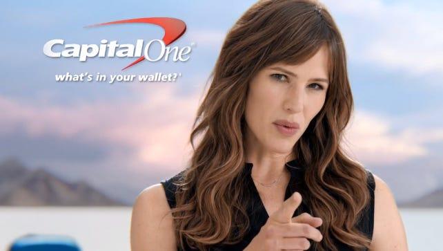 Actress Jennifer Garner stars in Capital One's TV ads.