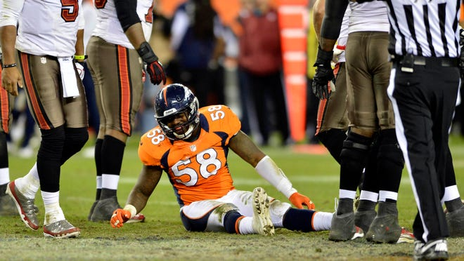 Star Denver Broncos linebacker Von Miller suffered what may be a season-ending injury during Tuesday's practice.